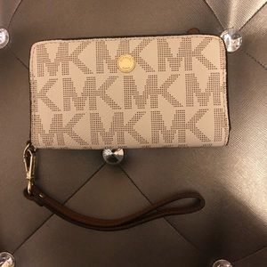Michael Kors Leather Tech Wristlet